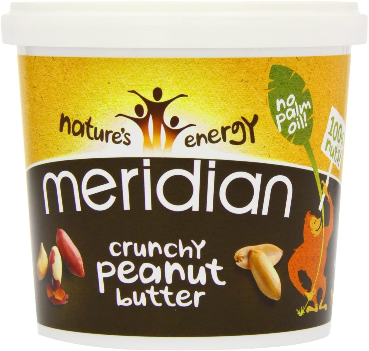 Meridian Natural Crunchy Peanut Butter 1kg