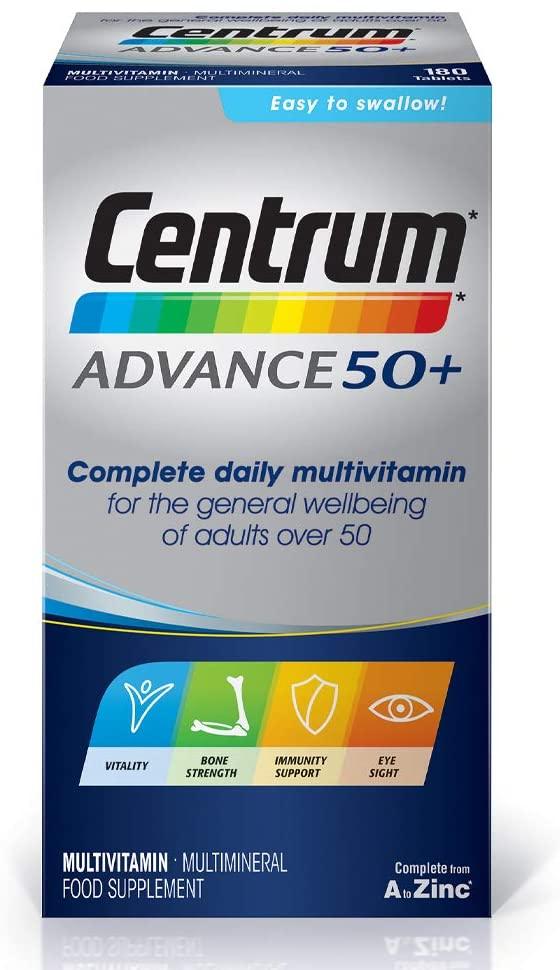 Centrum Advance 50 Plus Multivitamin – 180 Tablets