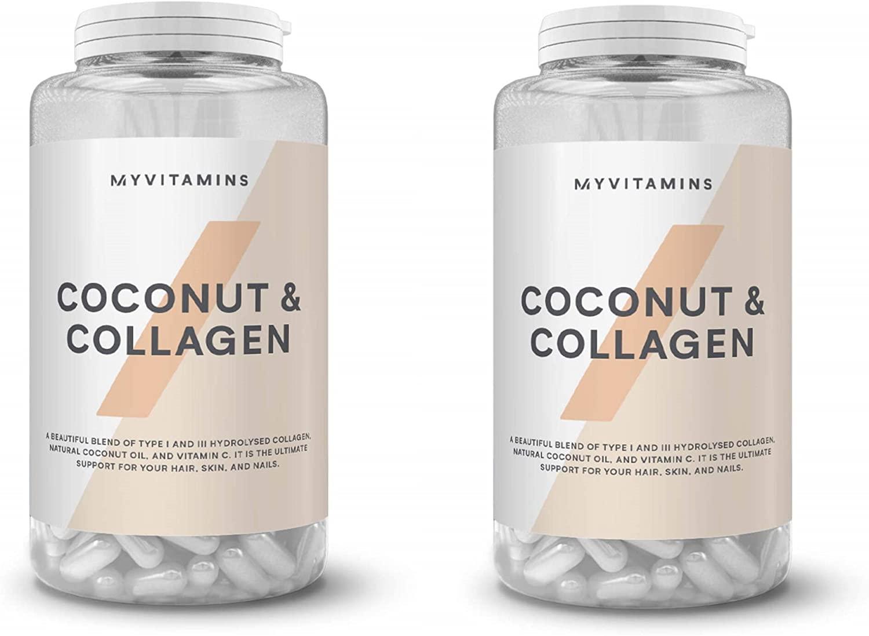 myvitamins Coconut & Collagen 2 Pack Bundle (2×60 Caps)